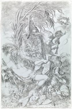 Fig. 2. Giovanni Benedetto Castiglione, Il Genio della Pittura (1648), etching on copper, 37.8 x 25.2 cm. Courtesy of Istituto Nazionale per la Grafica, Rome, VIC 369.