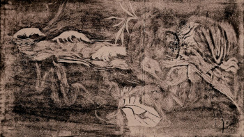 Paul Gauguin, l'Univers est crée (The Universe is Created) (1894), woodcut. Printed by the artist. The Art Institute of Chicago.