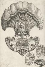 Fig. 4. Johann Melchior Gutwein, Schlückbilder (Edible Prints) (c. 1749), etching on light greenish blue laid paper, image 7.9 x 6 cm, sheet 9.1 x 8.7 cm. Private collection.
