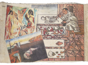Fig. 1d. Enrique Chagoya, detail of Tales from the Conquest/Codex (1992). ©Enrique Chagoya.