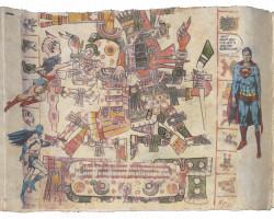Fig. 1f. Enrique Chagoya, detail of Tales from the Conquest/Codex (1992). ©Enrique Chagoya.