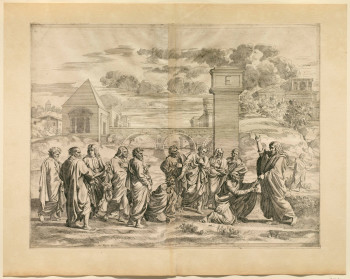 Fig. 2. Jean Dughet, Ordination from First Suite of The Seven Sacraments (c. 1650), after Poussin, etching on paper. Sterling and Francine Clark Art Institute, Williamstown, Massachusetts.