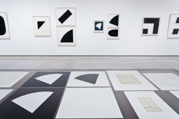 """Installation view of """"Ellsworth Kelly: Prints and Paintings"""" at the Los Angeles County Museum of Art, Spring 2012."""