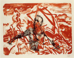 Martin Kippenberger, Raft of the Medusa (1996), one from the suite of lithographs.