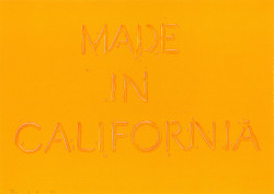 Ed Ruscha, Made in California (1971), lithograph, sheet 51 x 71.3cm. Printed by Paul Clinton and Ed Hamilton at Cirrus Editions, published by Grunwald Graphic Arts Foundation, UCLA. Fine Arts Museums of San Francisco. Museum purchase, Achenbach Foundation for Graphic Arts Endowment Fund. ©Ed Ruscha. (Illustration from Proof: The Rise of Printmaking in Southern California.)