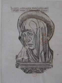 Virgin of Sorrows (Paris, probably late 15th century), woodcut. Paris, BnF, Réserve du département des Estampes et de la Photographie, Réserve Ea-5 (14)-Boîte écu.