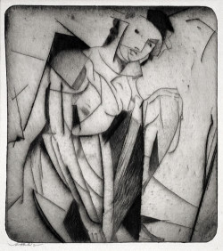 Arthur B. Davies, Figure in Glass (1916-17), drypoint on zinc. Courtesy Harris Schrank, New York.