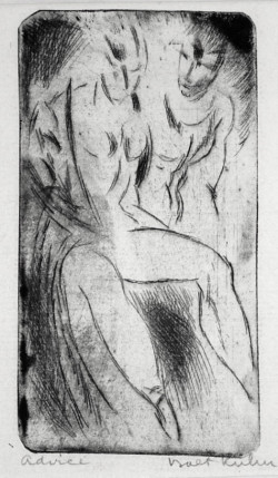 Walt Kuhn, Strong Girl (1916), drypoint. Courtesy Harris Schrank, New York.