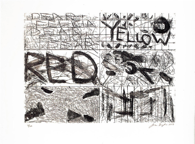 Fig. 1. Joan Snyder, Red and Yellow (1977), etching, 39.7 x 54.9 cm.