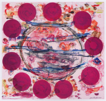 Fig. 3. Joan Snyder, Madrigal X (2001), lithograph, monotype and woodcut, 85.1 x 90.1 cm.