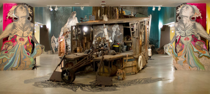 """Swoon: Submerged Motherlands"" installation view. Brooklyn Museum, 11 April – 24 August 2014."