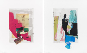 Arturo Herrera, from Berlin Singers (2010), suite of 10 print collages: collage, etching, digital print and screenprint, 30 x 21.3 cm each. Edition of 20. Printed and published by Lower East Side Printshop, New York.