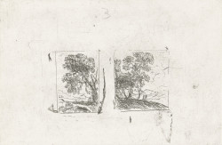 Fig. 1. Claude Lorrain, Les deux paysages (The two landscapes) (ca. 1630), etching, 13 x 19.8 cm. Collection of the Rijksmuseum, Amsterdam.