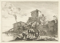 Fig. 12. Jan Both, Views of Rome and its surroundings: The muleteer on the Via Appia (1636-1652), etching, 19.8 x 27.7 cm. Collection of the Rijksmuseum, Amsterdam.