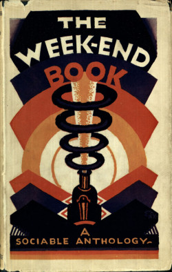 Fig. 3. E. McKnight Kauffer, The Week-end Book (1924), book jacket, 19 x 12 cm. Published by Nonesuch Press, London. Victoria and Albert Museum, London. Museum No. NAL: 38041989073069. © Estate of Edward McKnight Kauffer.