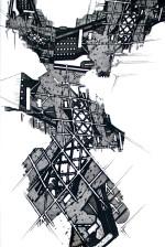 Sumi Perera, detail from Rebuilding the Unbuilt [Y Block] (i)  (2014).