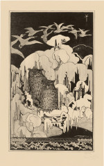 Fig. 4. Theodorus van Hoytema, Christmas Eve (Kerstnacht) (1894), lithograph, image 41 x 25 cm, sheet 50 x 31.5 cm. Museum of Fine Arts,  Boston, Fund in Memory of Horatio Greenough Curtis, 2013.300.1.  Image courtesy of the Museum of Fine Arts, Boston.