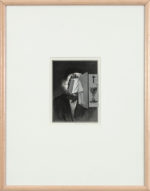 Bruce Conner, PORTRAIT (FRAGILE), JUNE 21, 1990 (1990), engraving and graphite photocopy collage on archival paper, image 6 x 4 1/2 inches, frame 18 3/4 x 14 3/4 inches. ©2016 Conner Family Trust, San Francisco / Artists Rights Society (ARS). Courtesy Paula Cooper Gallery, New York. Photo: Steven Probert.